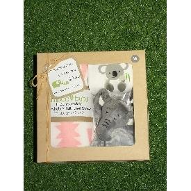 ชุดของขวัญสำหรับเด็กแรกเกิด - สีขาวลายหมีโคอะล่า