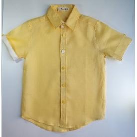 Fabio linen boy shirt-yellow