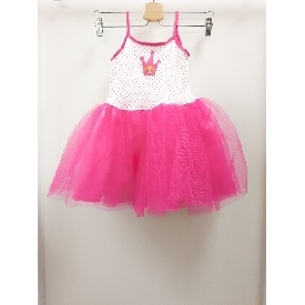 Pink dotty crown tutu