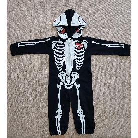 Baby skeleton bodysuit