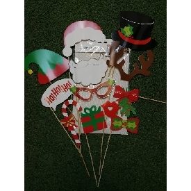 พร็อพแต่งตัวถ่ายรูปสำหรับงานเลี้ยง ลายคริสต์มาส