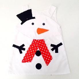 Snowman girl dress