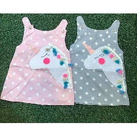 Unicorn pompom girl dress