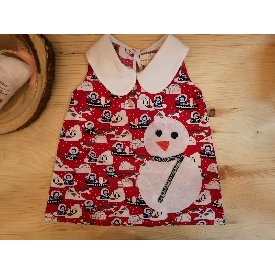 Santa girl dress peter pan collar