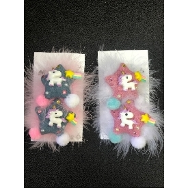 Dancing star unicorn hair clips
