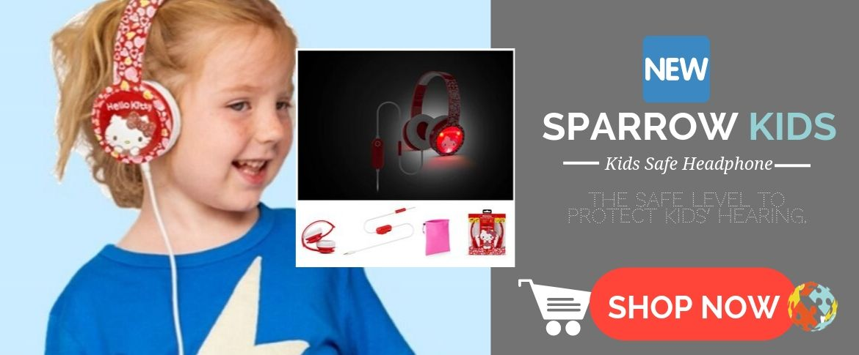 Sparrow Kids safe headphone