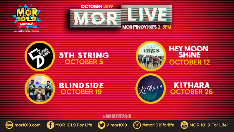 MOR Manila's featured artists for October 2019 on #MORLive!