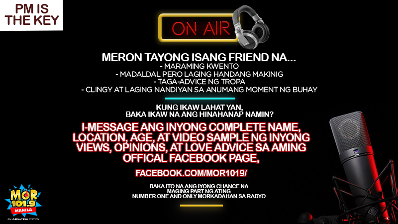 Be part of the MOR Manila Family! PM is the key!