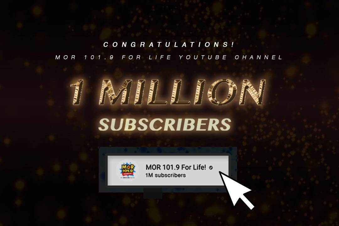 MOR Manila's official YouTube channel breaches 1 million subscribers!