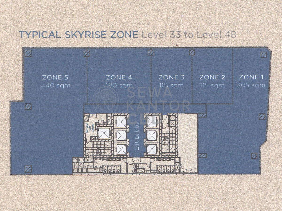 Sewa Kantor Gedung International Financial Center Tower 2 Jakarta Selatan Setiabudi Sudirman Jakarta Floor Plans 1