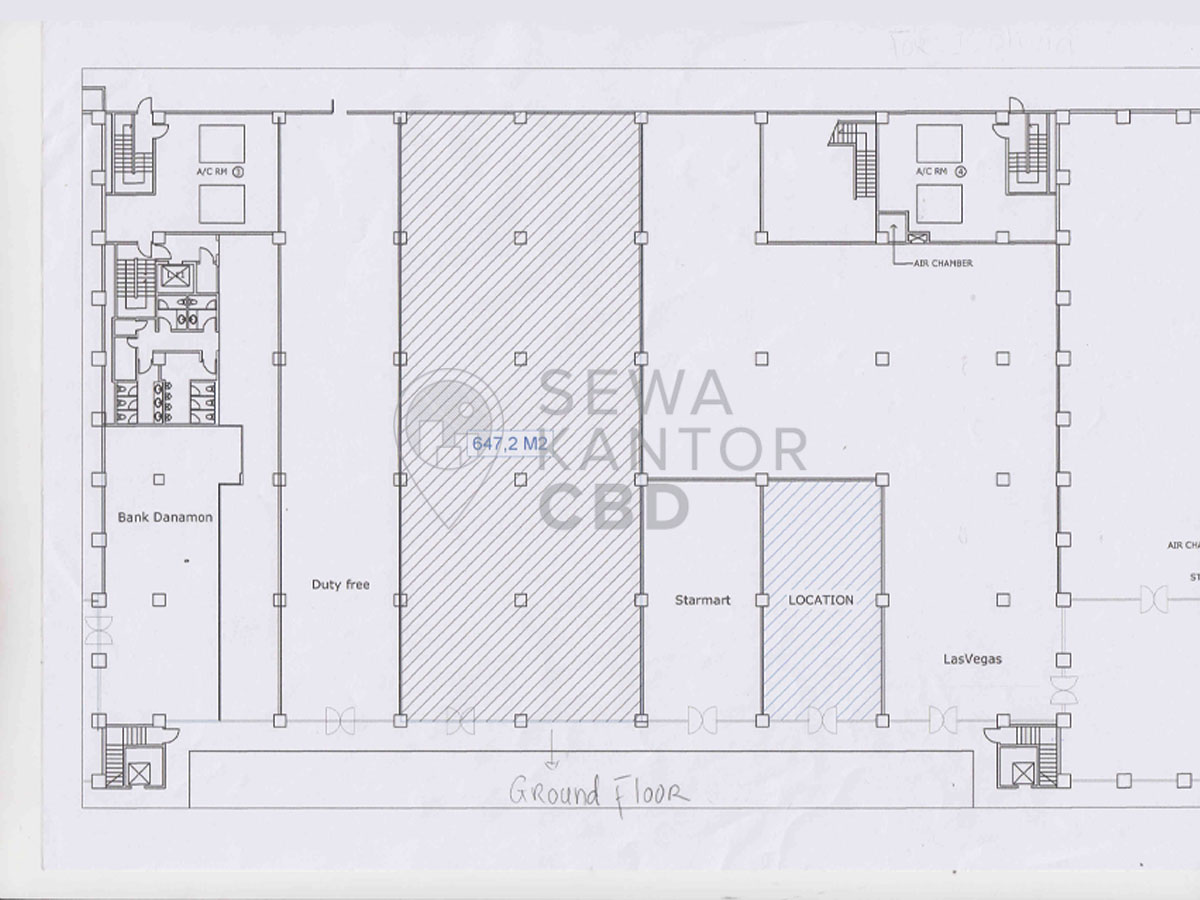 Sewa Kantor Gedung Landmark Tower 1 Jakarta Selatan Kebayoran Baru Sudirman Jakarta Floor Plan