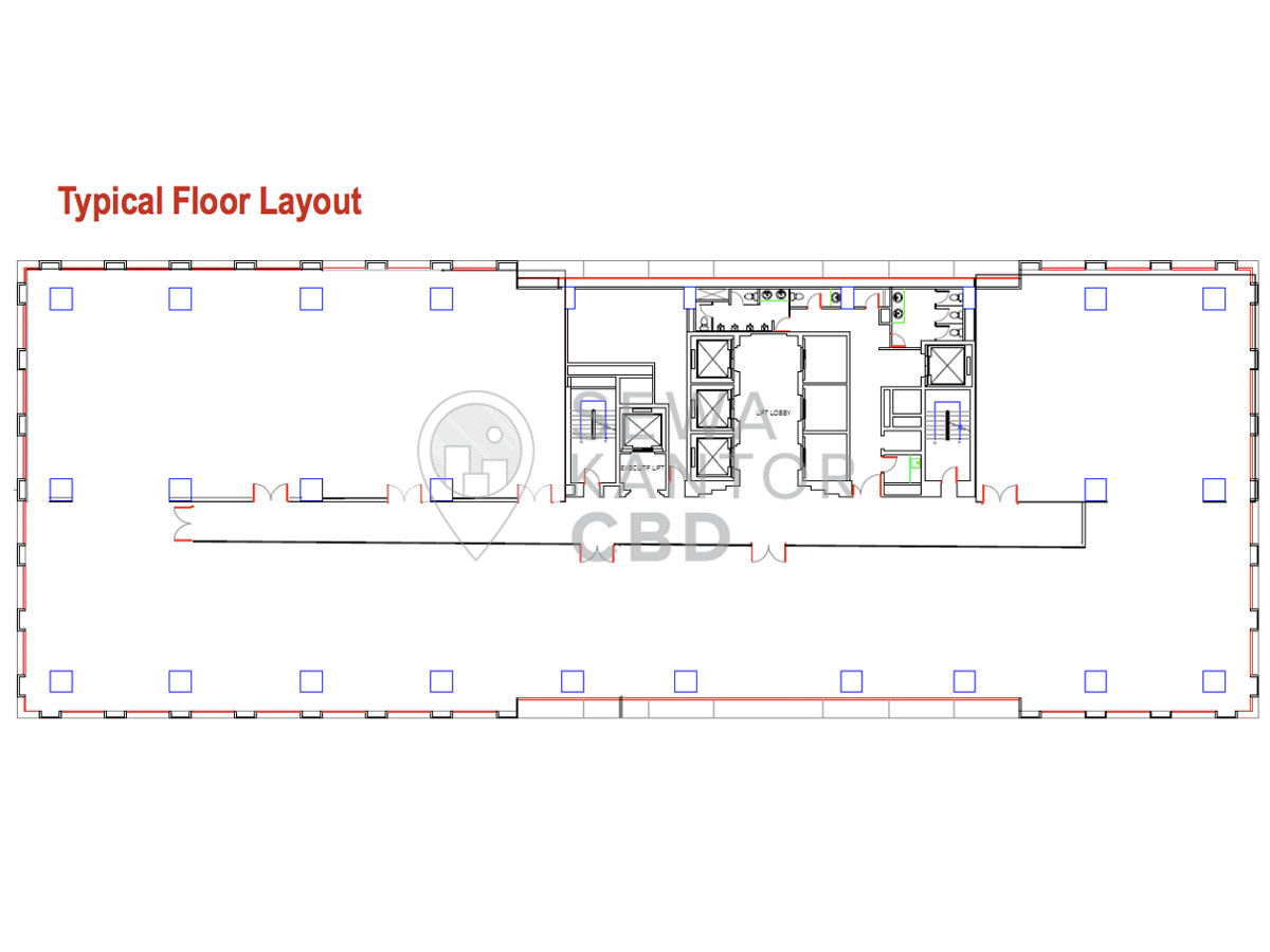 Sewa Kantor Gedung Mayapada Tower 1 Jakarta Selatan Setiabudi Sudirman Jakarta Floor Plan