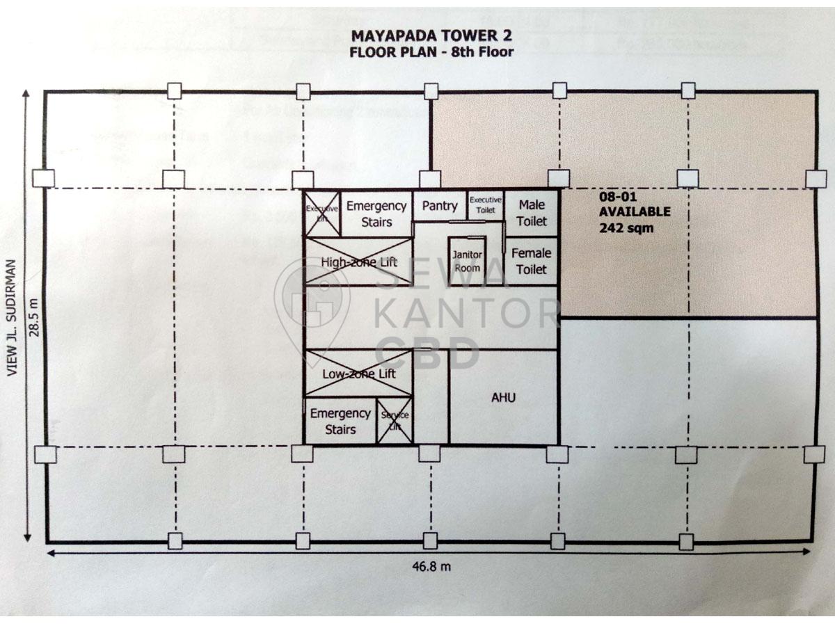 Sewa Kantor Gedung Mayapada Tower 2 Jakarta Selatan Setiabudi Sudirman Jakarta Floor Plans 2