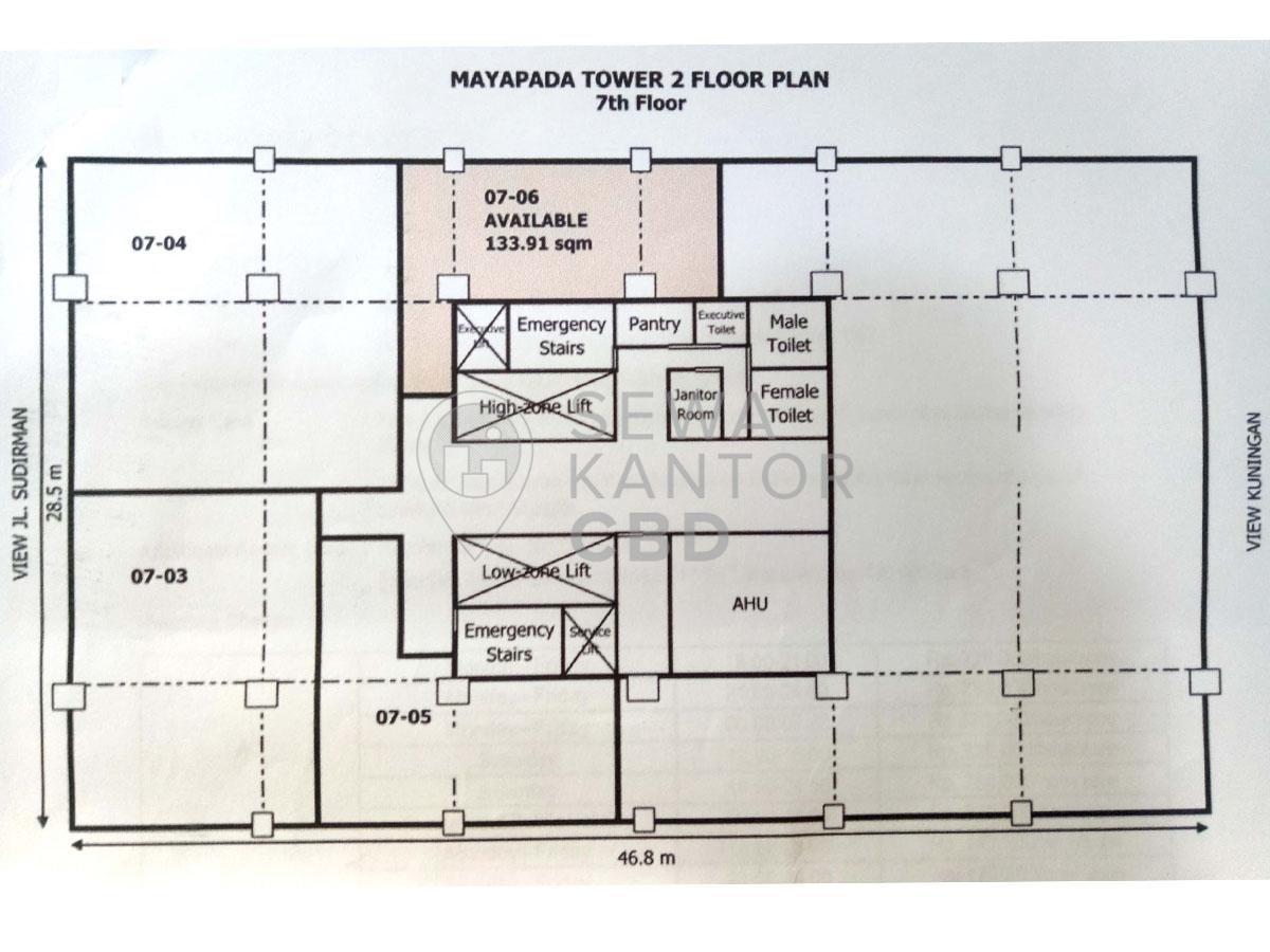 Sewa Kantor Gedung Mayapada Tower 2 Jakarta Selatan Setiabudi Sudirman Jakarta Floor Plans 1