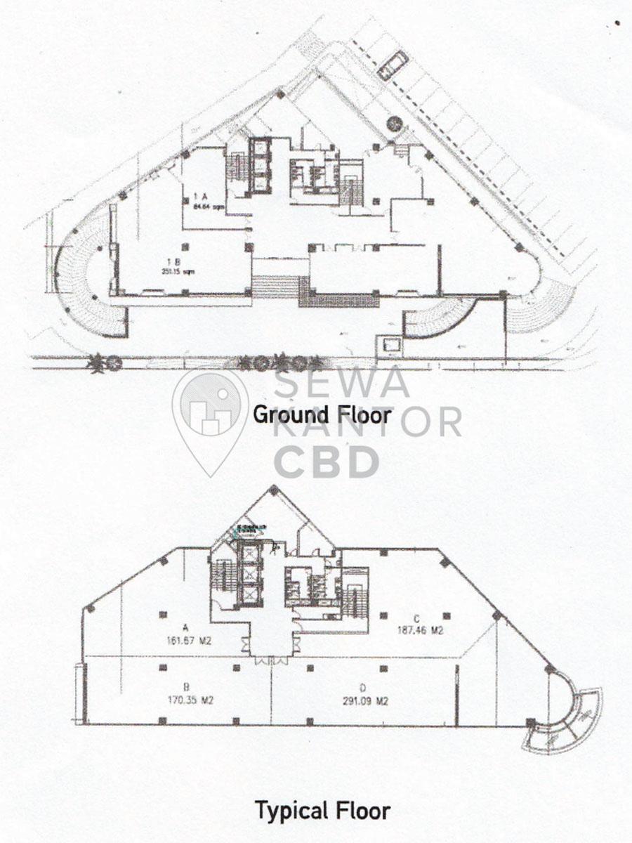 Sewa Kantor Gedung HDI Hive Jakarta Pusat Menteng  Jakarta Floor Plan