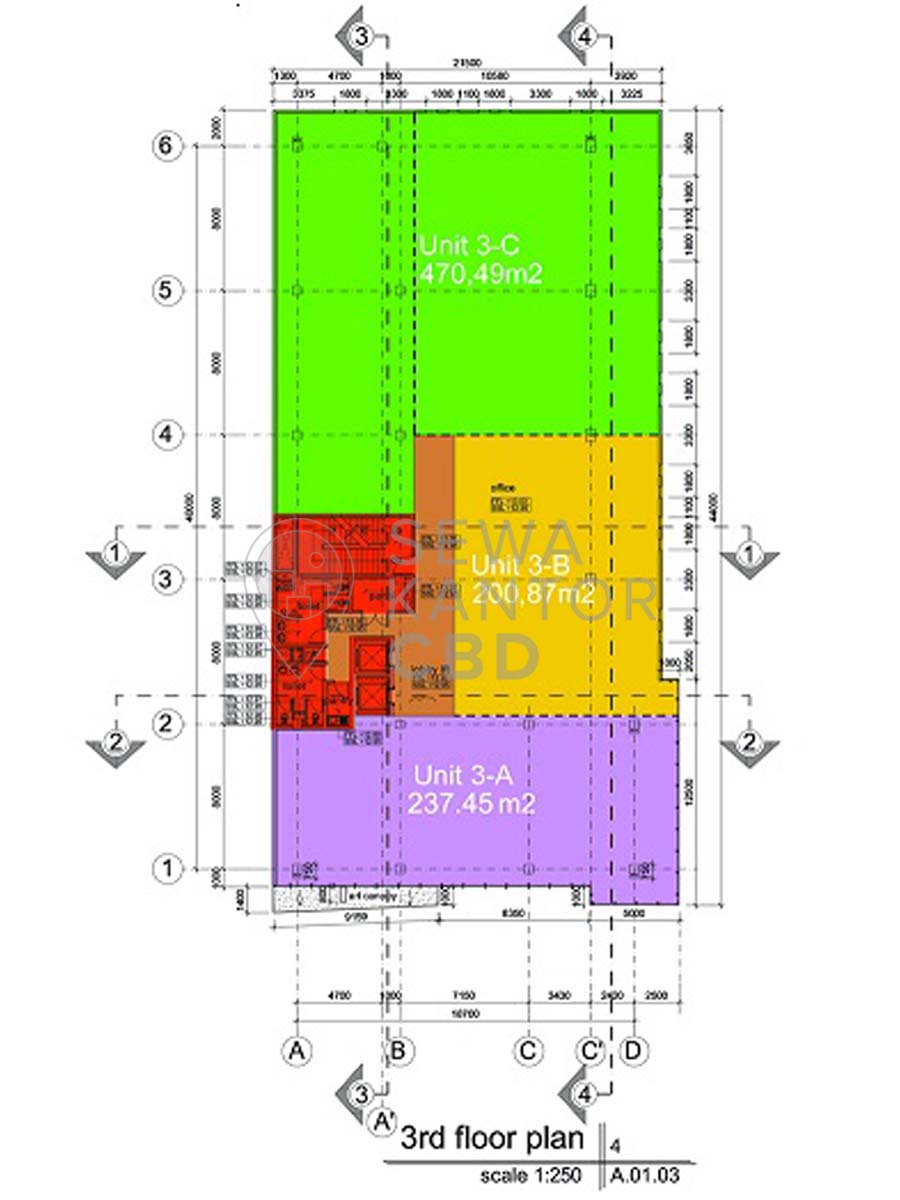 Sewa Kantor Gedung Graha Dinamika Jakarta Pusat Gambir  Jakarta Floor Plan