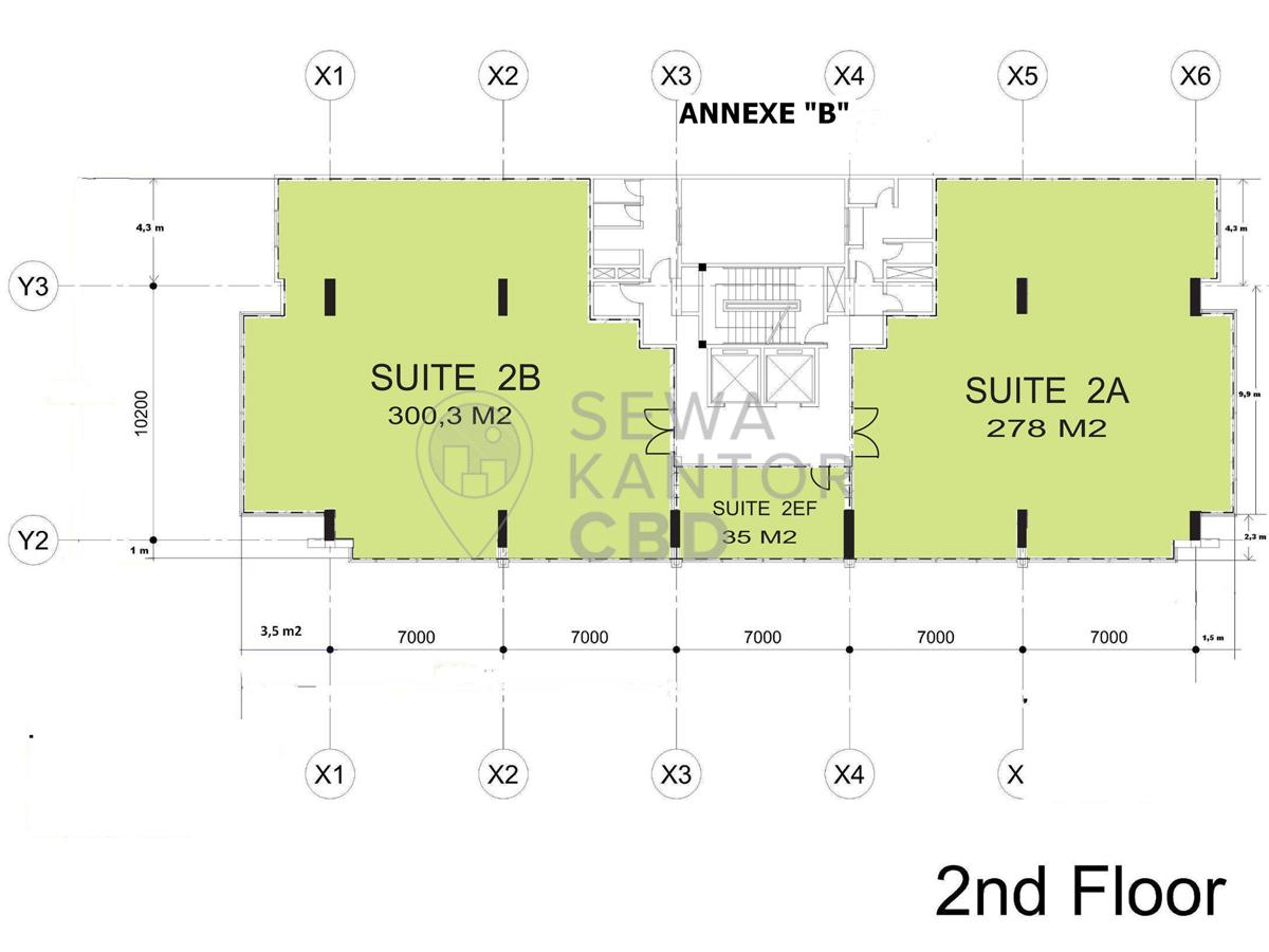 Sewa Kantor Gedung Gedung E-Trade Jakarta Pusat Menteng  Jakarta Floor Plans 1