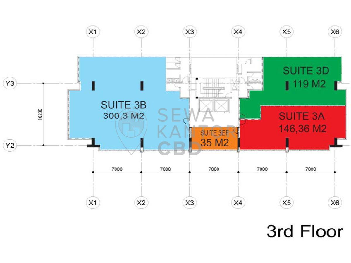 Sewa Kantor Gedung Gedung E-Trade Jakarta Pusat Menteng  Jakarta Floor Plan