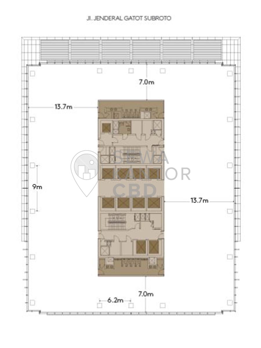 Sewa Kantor Gedung Capital Place Jakarta Selatan Setiabudi Gatot Subroto Jakarta Floor Plans 2