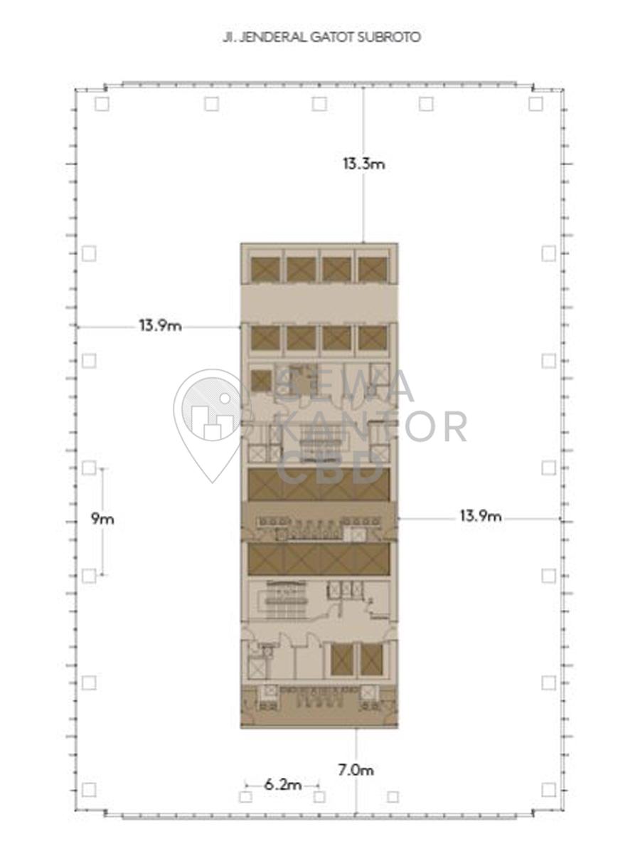 Sewa Kantor Gedung Capital Place Jakarta Selatan Setiabudi Gatot Subroto Jakarta Floor Plan