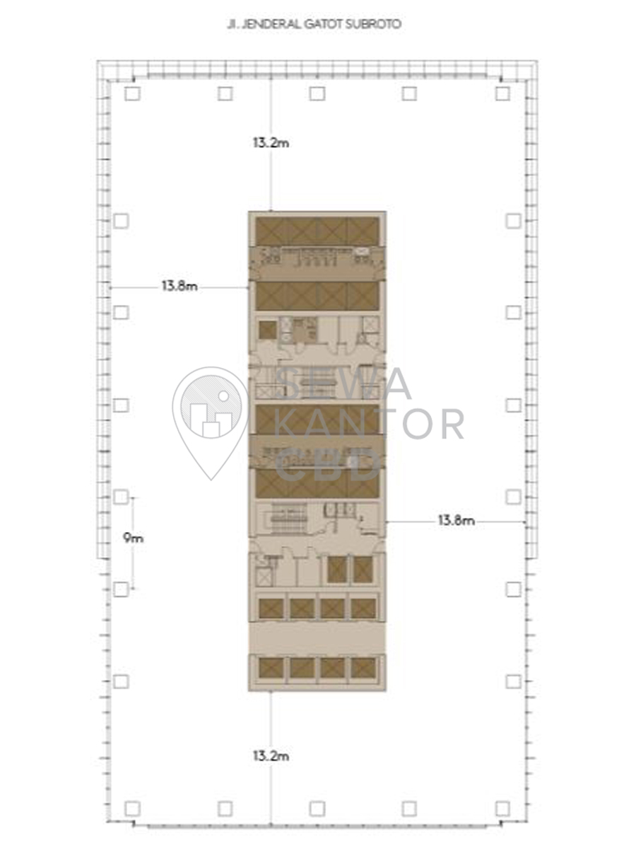 Sewa Kantor Gedung Capital Place Jakarta Selatan Setiabudi Gatot Subroto Jakarta Floor Plans 3