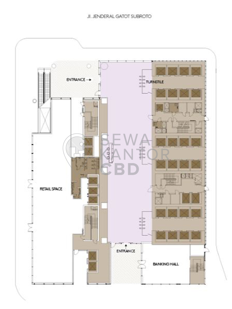 Sewa Kantor Gedung Capital Place Jakarta Selatan Setiabudi Gatot Subroto Jakarta Floor Plans 1