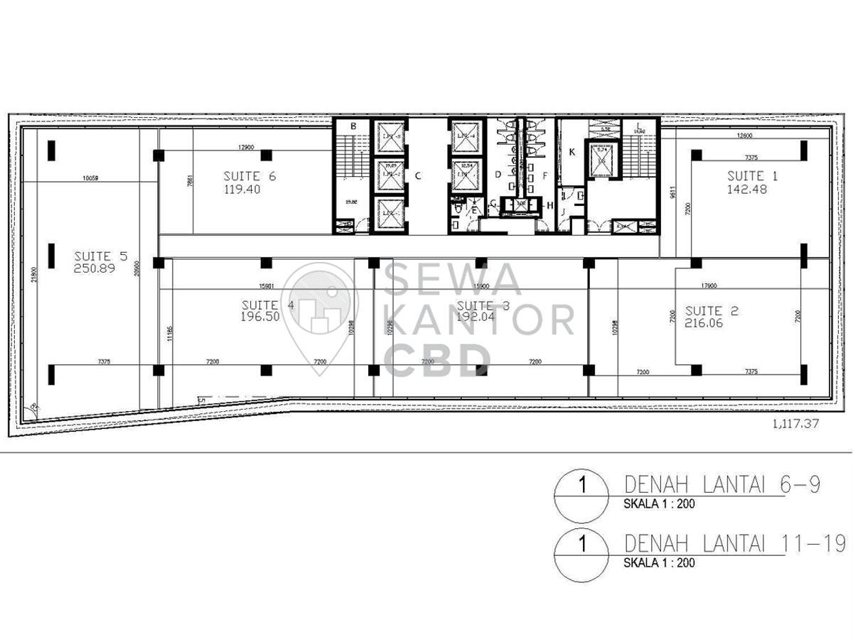 Sewa Kantor Gedung AD Premier Jakarta Selatan Pasar Minggu TB Simatupang Jakarta Floor Plan