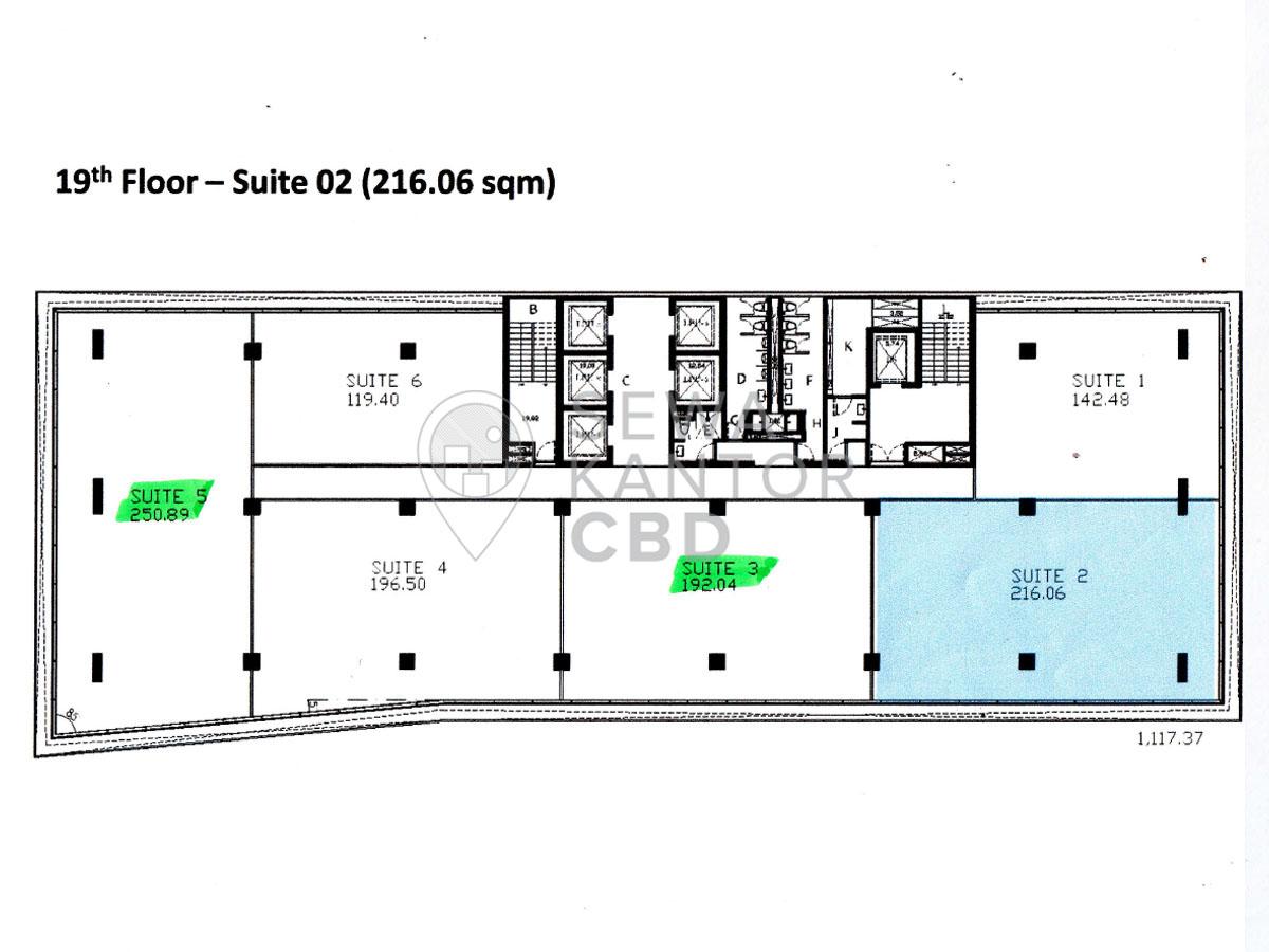 Sewa Kantor Gedung AD Premier Jakarta Selatan Pasar Minggu TB Simatupang Jakarta Floor Plans 2