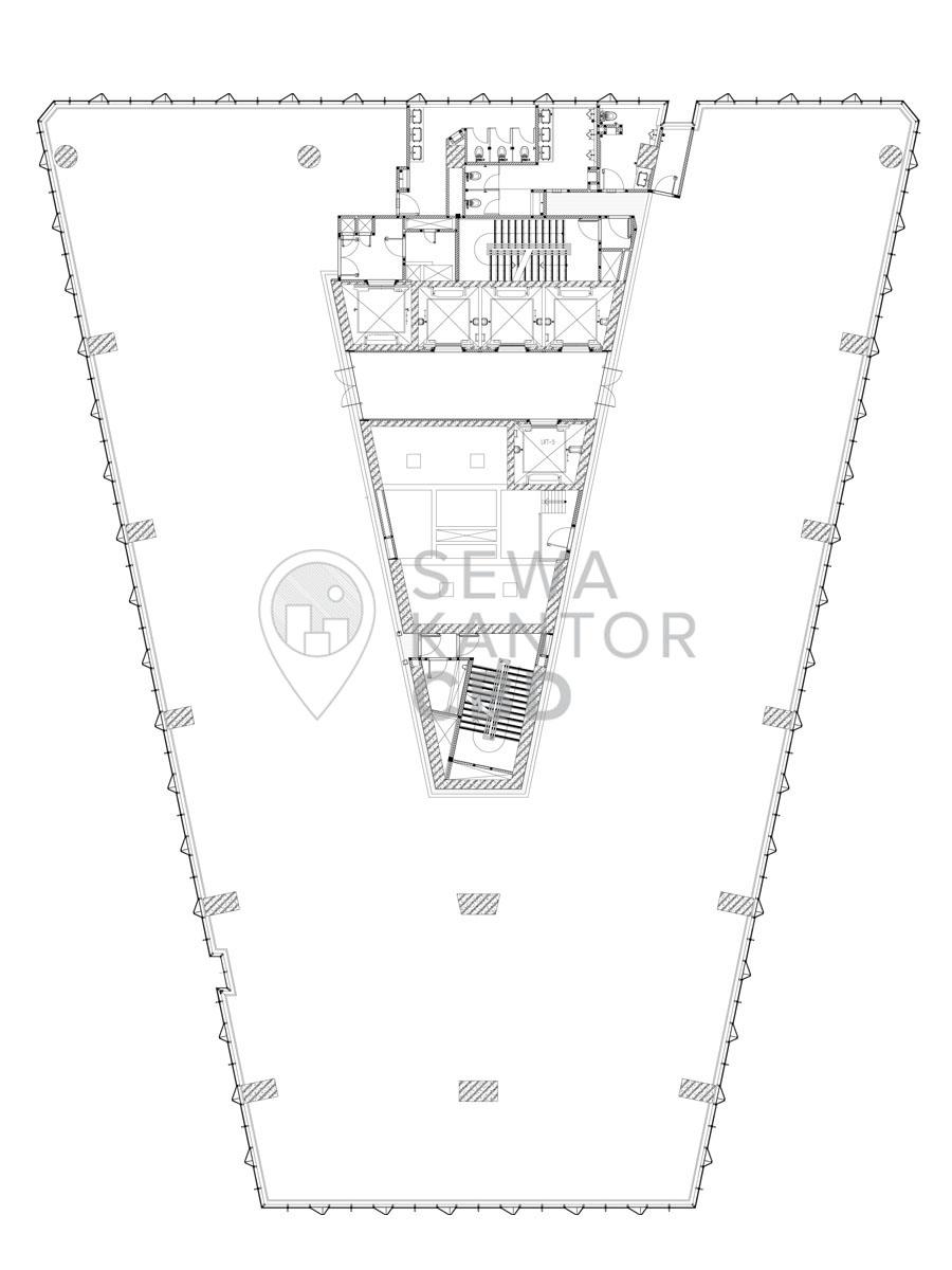 Sewa Kantor Gedung Alamanda Tower Jakarta Selatan  TB Simatupang Jakarta Floor Plans 1