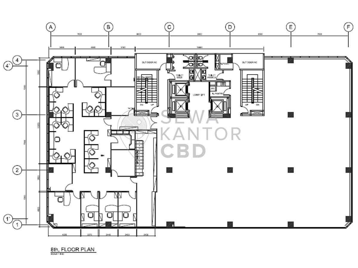 Sewa Kantor Gedung Beltway Office Park Tower C Jakarta Selatan Pasar Minggu TB Simatupang Jakarta Floor Plans 1