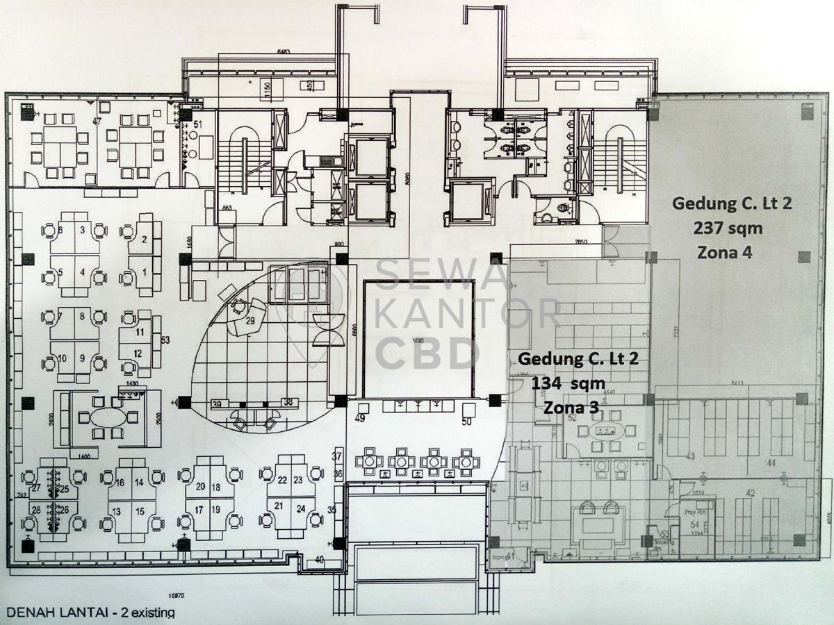 Sewa Kantor Gedung Beltway Office Park Tower C Jakarta Selatan Pasar Minggu TB Simatupang Jakarta Floor Plan