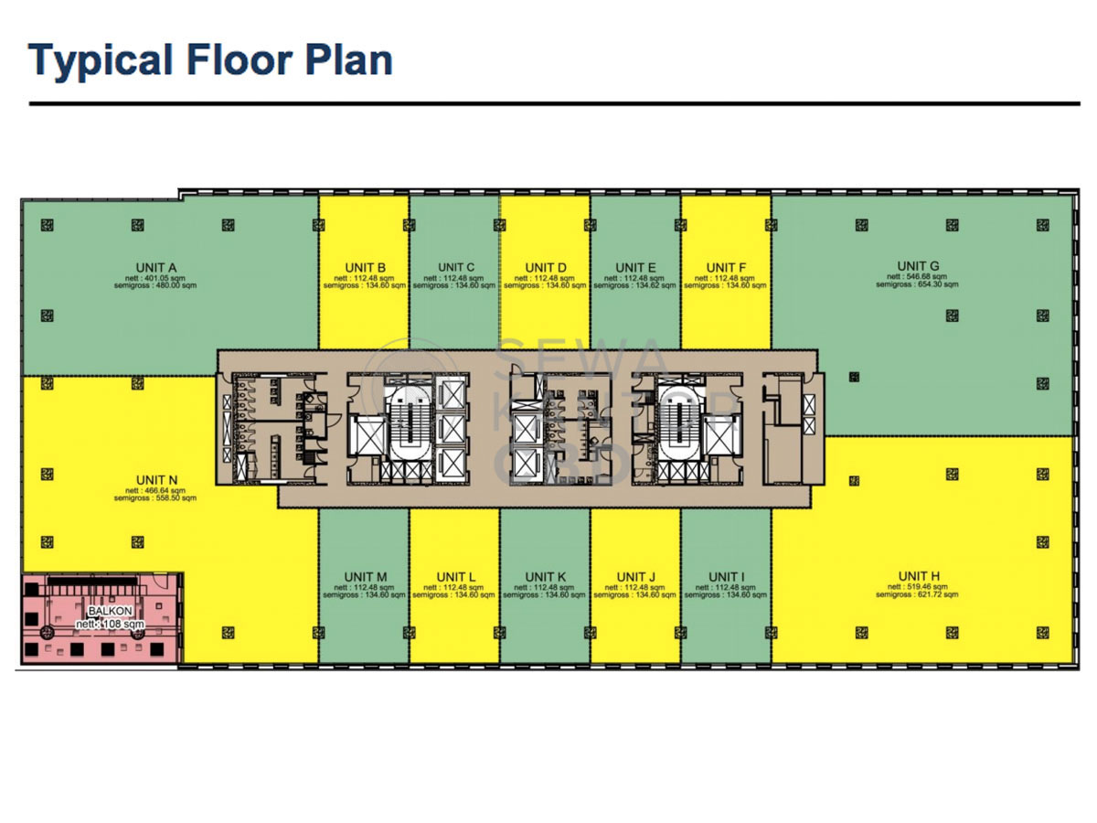 Sewa Kantor Gedung CIBIS Nine Jakarta Selatan Pasar Minggu TB Simatupang Jakarta Floor Plan