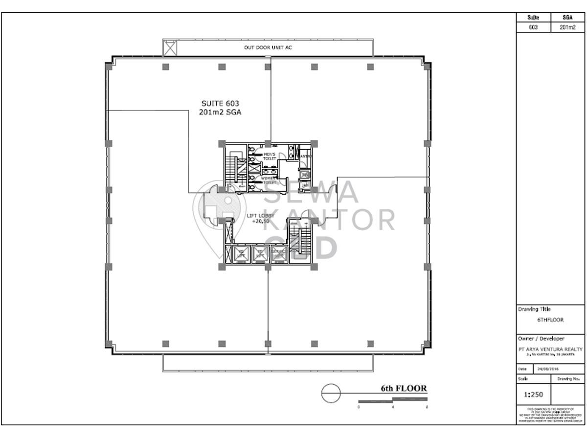 Sewa Kantor Gedung Gedung Ventura Jakarta Selatan  TB Simatupang Jakarta Floor Plan