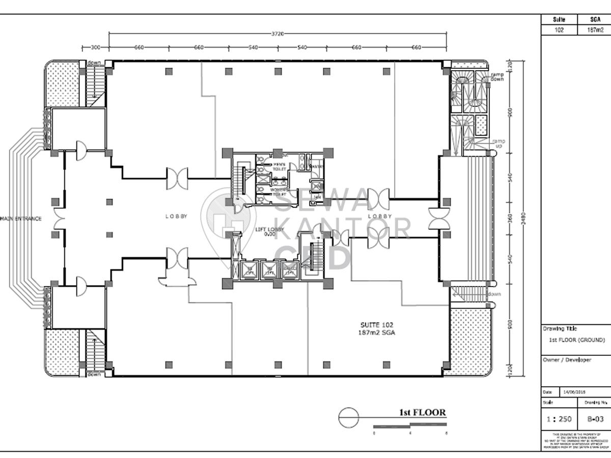 Sewa Kantor Gedung Gedung Ventura Jakarta Selatan  TB Simatupang Jakarta Floor Plans 2