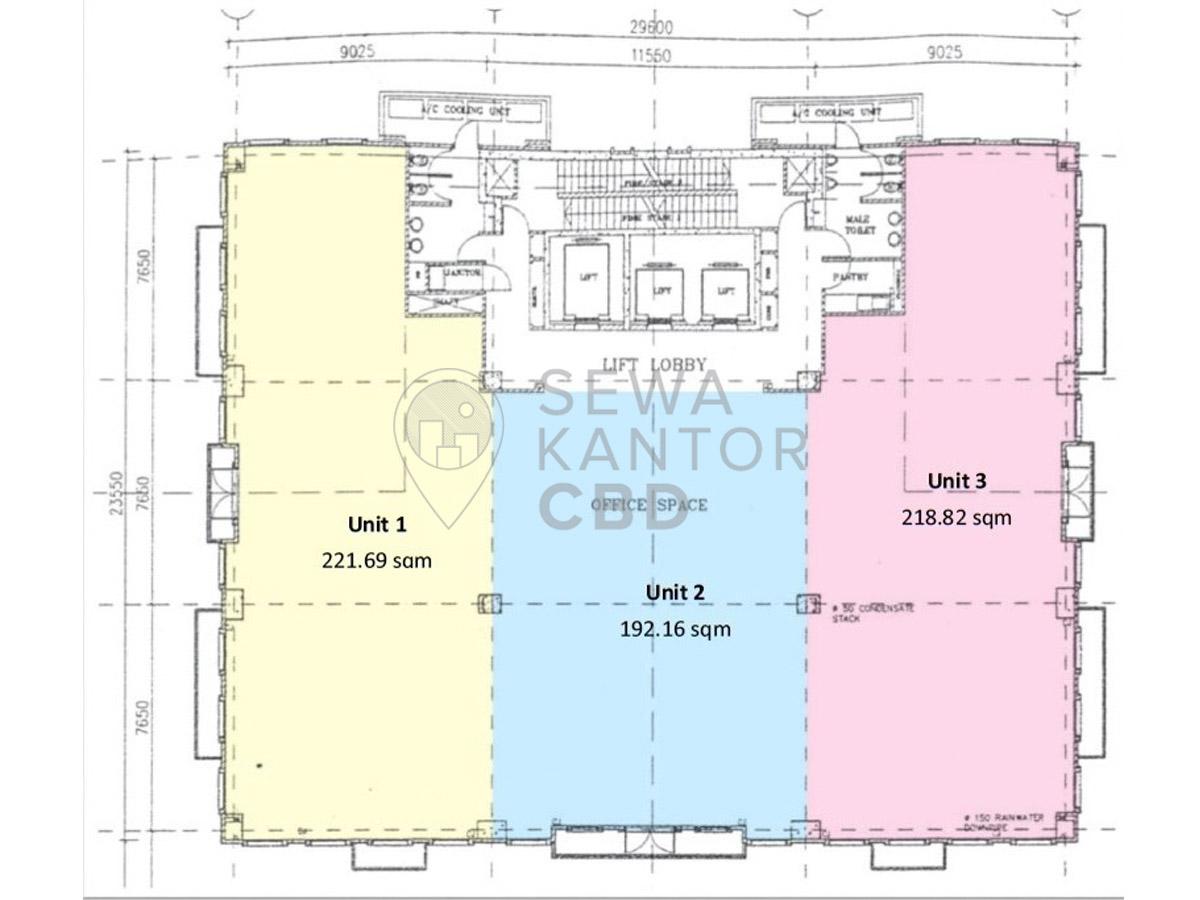 Sewa Kantor Gedung Arkadia Tower B Jakarta Selatan Pasar Minggu  Jakarta Floor Plan