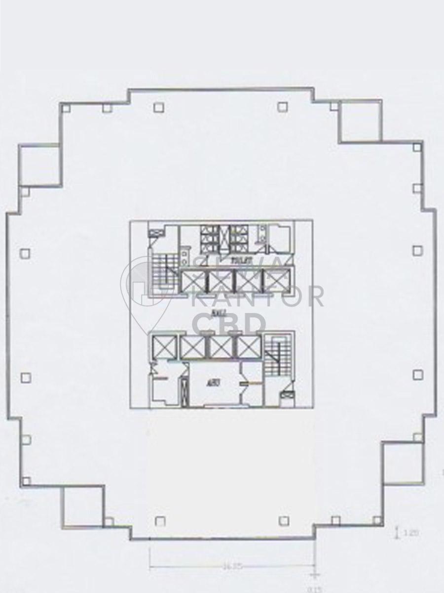 Sewa Kantor Gedung Ariobimo Sentral Jakarta Selatan Setiabudi Kuningan Jakarta Floor Plan
