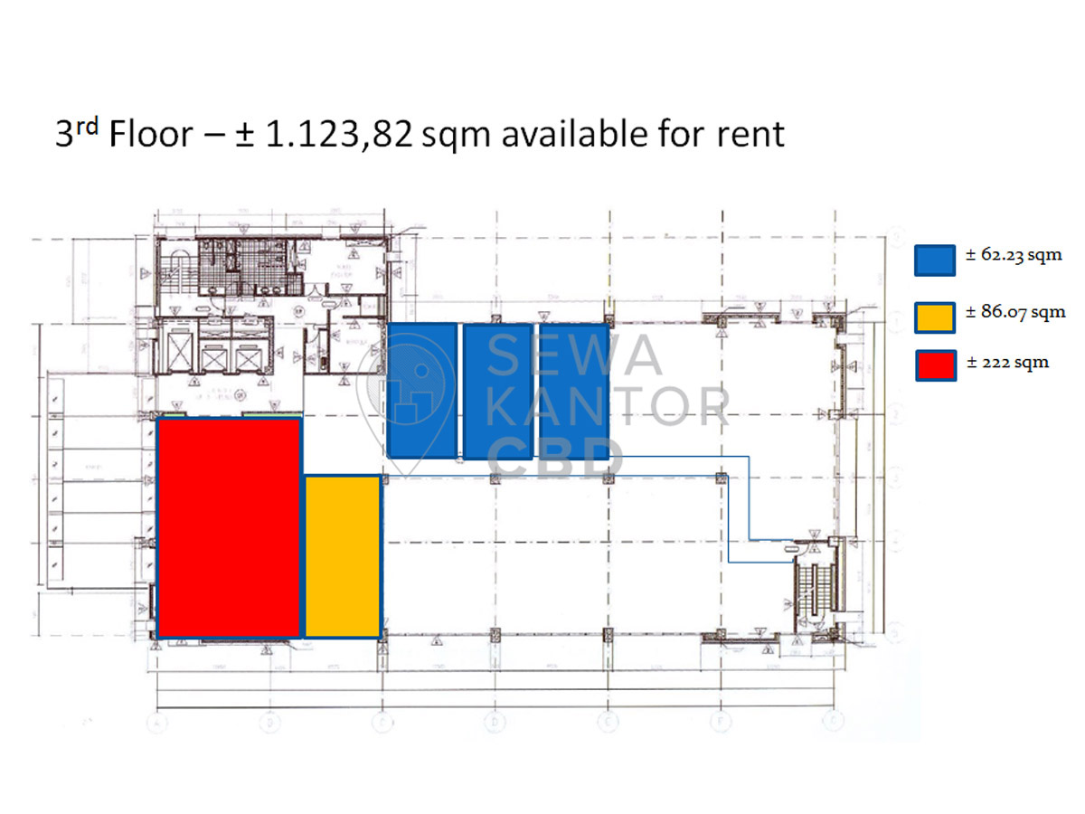Sewa Kantor Gedung Kobexindo Tower Jakarta Utara Pademangan  Jakarta Floor Plans 1