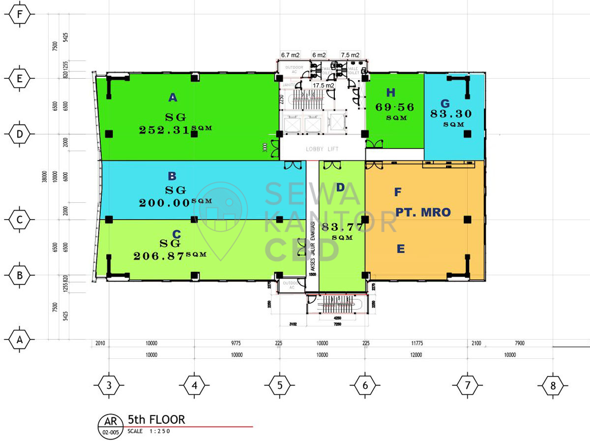 Sewa Kantor Gedung Harton Tower Jakarta utara Kelapa Gading  Jakarta Floor Plan