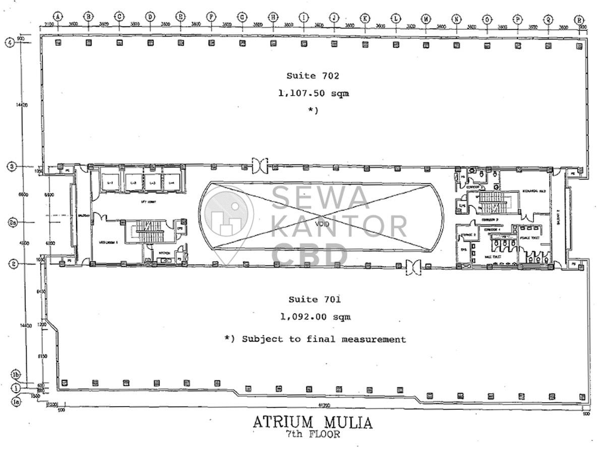 Sewa Kantor Gedung Atrium Mulia Jakarta Selatan Setiabudi Kuningan Jakarta Floor Plans 3