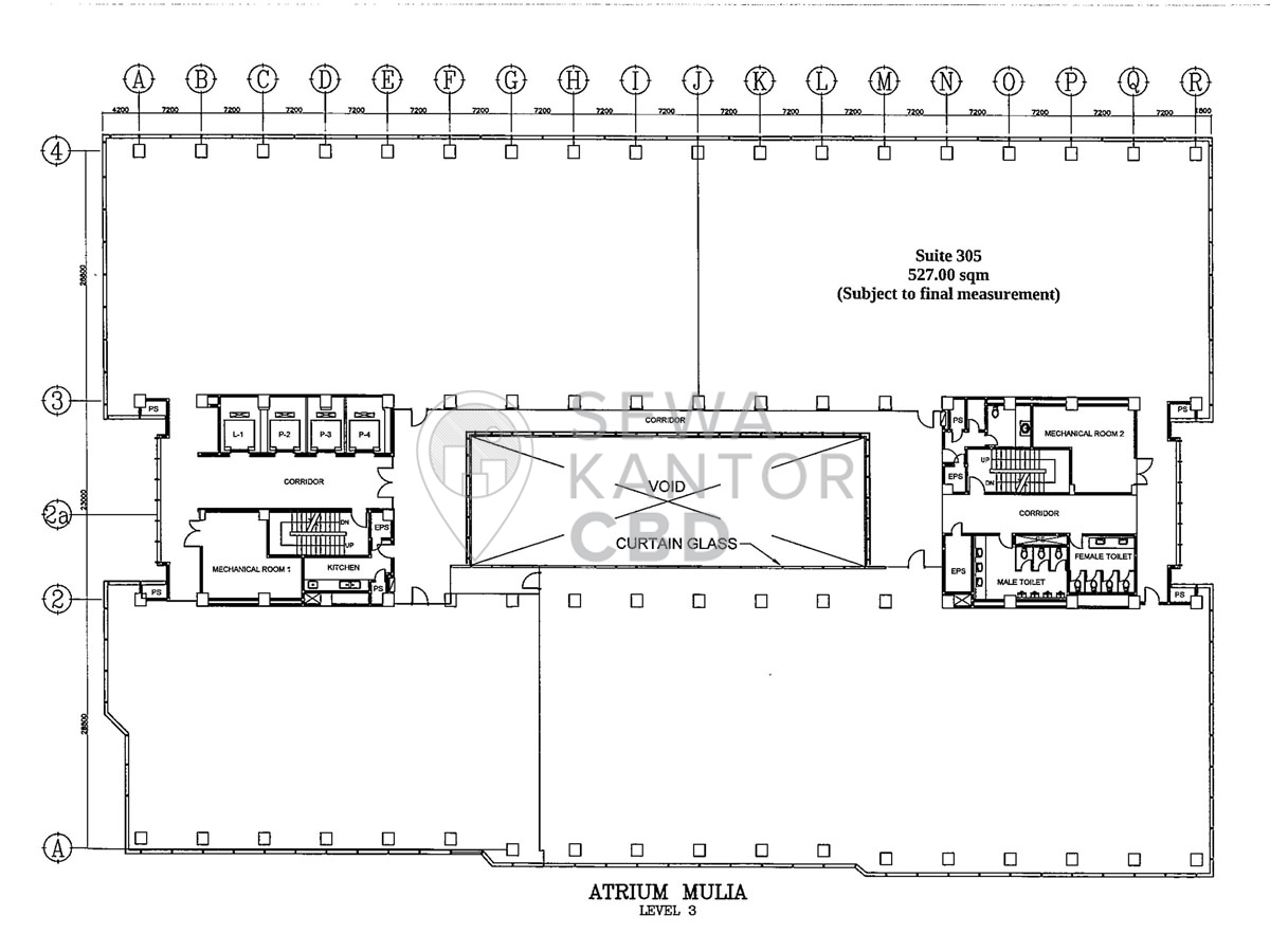 Sewa Kantor Gedung Atrium Mulia Jakarta Selatan Setiabudi Kuningan Jakarta Floor Plan