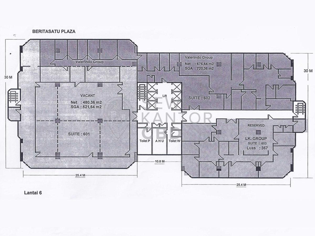 Sewa Kantor Gedung Berita Satu Plaza Jakarta Selatan Setiabudi Gatot Subroto Jakarta Floor Plan