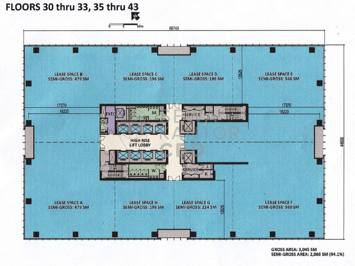 Sewa Kantor Gedung Centennial Tower Jakarta Selatan Setiabudi Gatot Subroto Jakarta Floor Plan