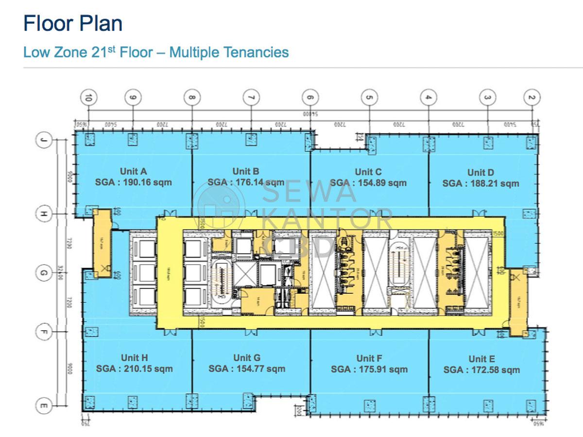 Sewa Kantor Gedung Gama Tower Jakarta Selatan Setiabudi Kuningan Jakarta Floor Plan