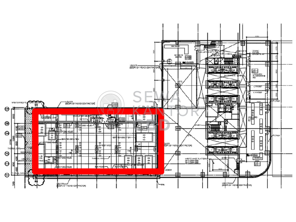 Sewa Kantor Gedung Menara Astra Jakarta Pusat Tanah Abang Sudirman Jakarta Floor Plans 1