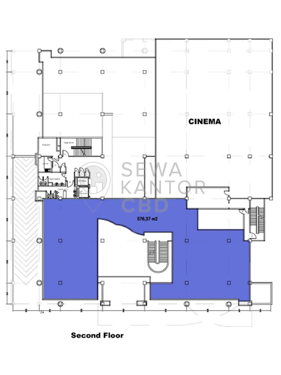 Sewa Kantor Gedung Gedung PPHUI Jakarta Selatan Setiabudi Kuningan Jakarta Floor Plan