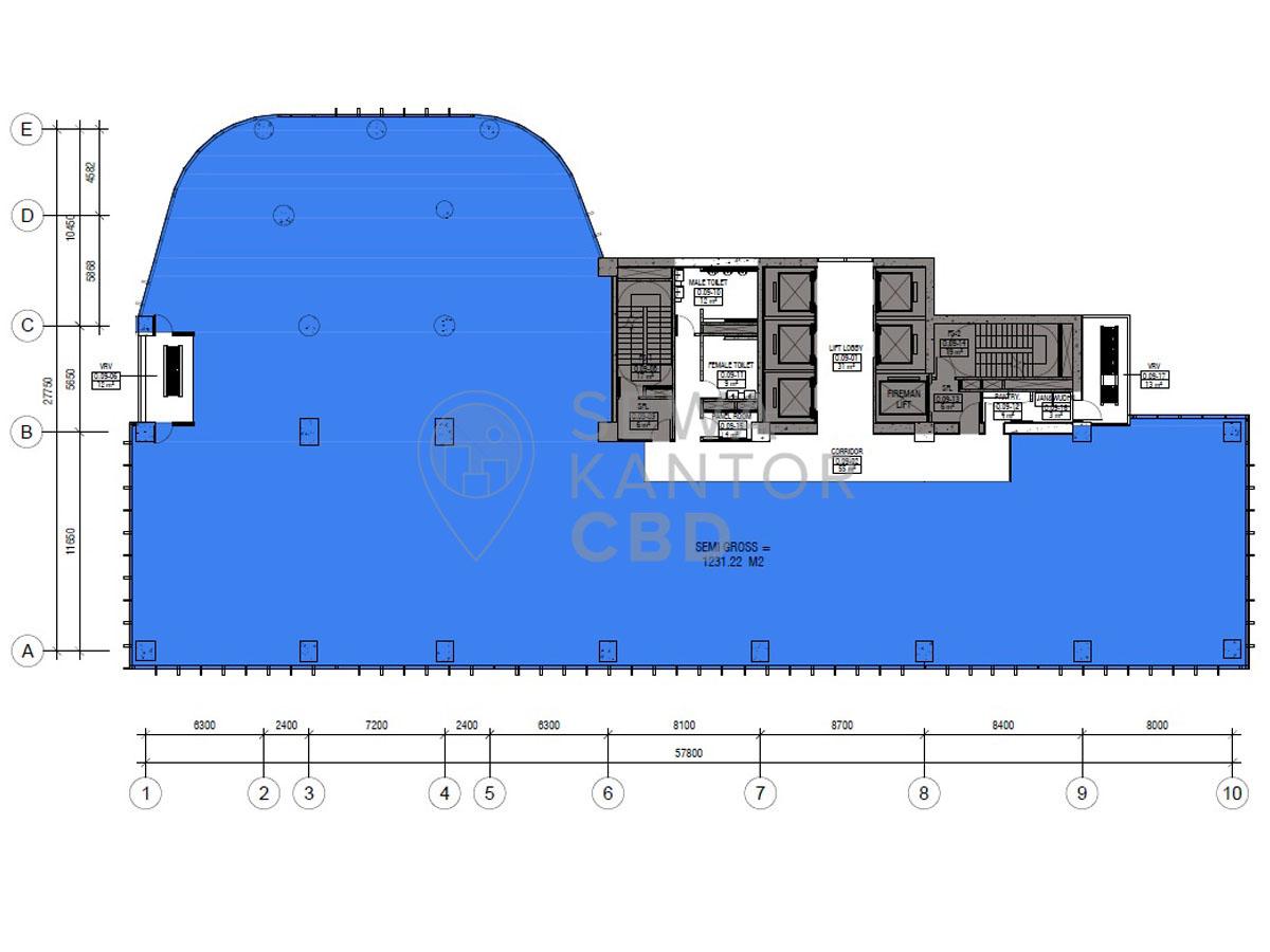 Sewa Kantor Gedung Lippo Thamrin Jakarta Pusat Menteng Thamrin Jakarta Floor Plans 9