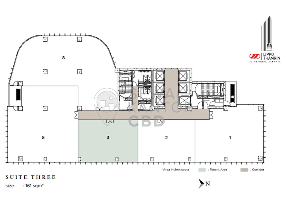 Sewa Kantor Gedung Lippo Thamrin Jakarta Pusat Menteng Thamrin Jakarta Floor Plans 7