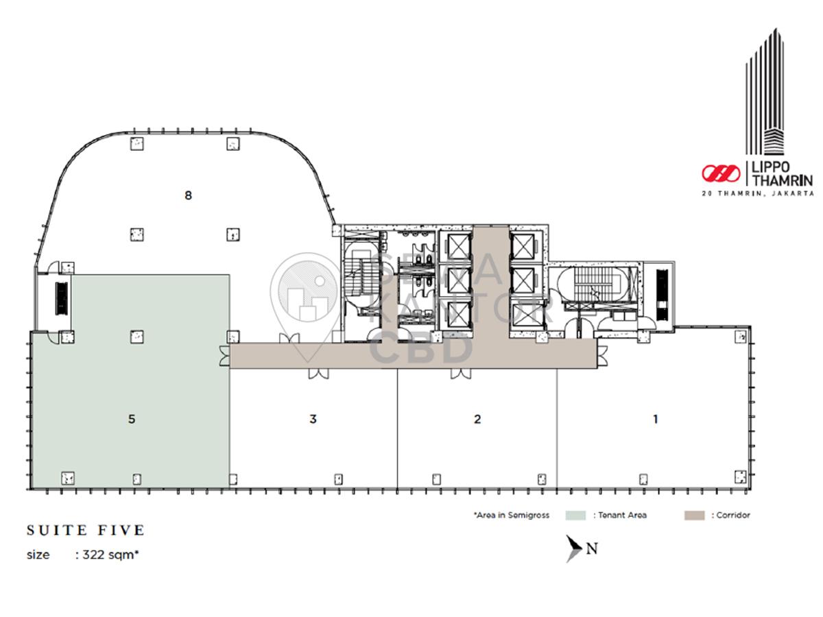 Sewa Kantor Gedung Lippo Thamrin Jakarta Pusat Menteng Thamrin Jakarta Floor Plans 6