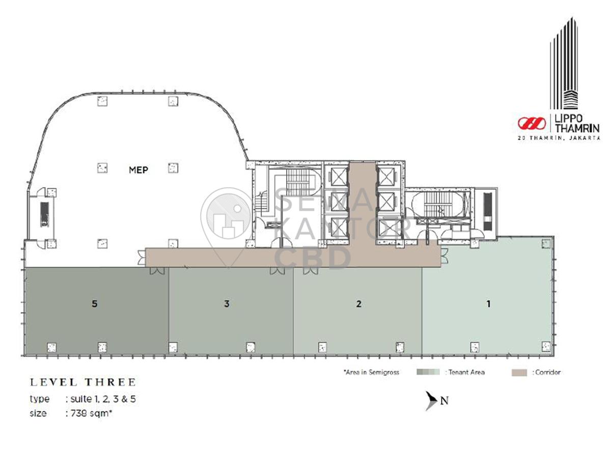Sewa Kantor Gedung Lippo Thamrin Jakarta Pusat Menteng Thamrin Jakarta Floor Plans 1