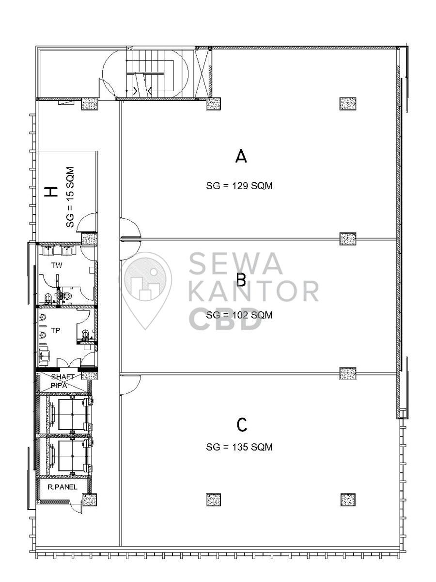 Sewa Kantor Gedung Gedung Sarana Jaya 3 Jakarta Pusat Cempaka Putih  Jakarta Floor Plans 2